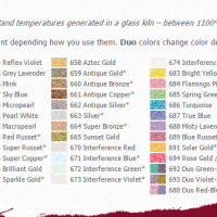 PearlEx Color Chart