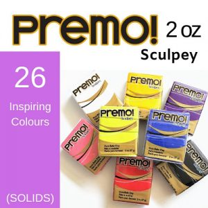 Premo Sculpey Polymer Clay 2 oz (Solid Colours)
