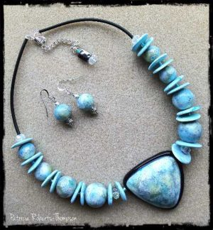 Blue Shield Necklace Set by Patricia Roberts Thompson