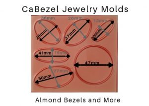 CaBezel Jewelry Molds Almond Bezels and More