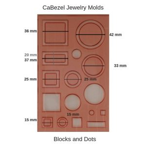 CaBezel Jewelry Molds Blocks and Dots