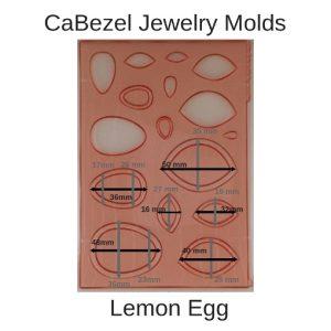CaBezel Jewelry Molds Lemon Egg