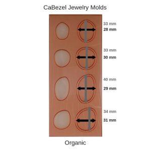 CaBezel Jewelry Molds Organic