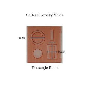 CaBezel Jewelry Molds Rectangle Round