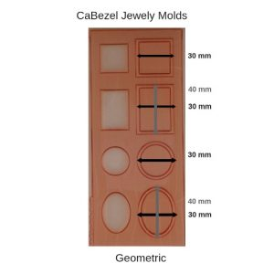 CaBezel Jewely Molds Geometric