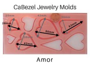 CaBezel Jewerly Molds Amor
