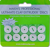 Makin's Clay Extruder Discs – Special Edition for metal clay