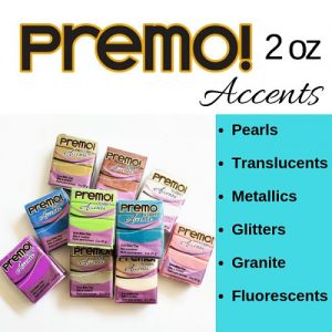 Sculpey Premo ACCENTS Polymer Clay 2 oz