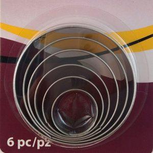 Round Cutters 6 piece