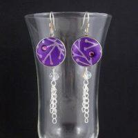 Double Loop Snap Earrings by Carolyn Good