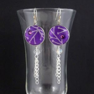 Double Loop Snap Earrings by Carolyn Good