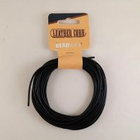 Black Leather Cord 2mm X 5 meters