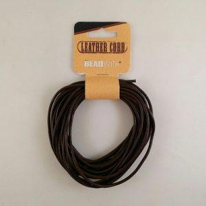 Leather Cording 5 meters Brown