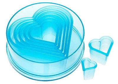 Heart Cutter Set 7pc