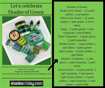 Happy St.Patrick's Day Polymer Clay Color Recipes