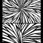 Radiating Rays Silk Screen by Helen Breil