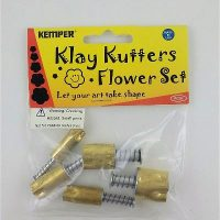 Kemper Brand Set of 5 Brass Flower Cutters with Plunger