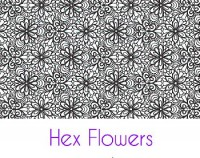 Hex Flowers Silk Screen Stencil