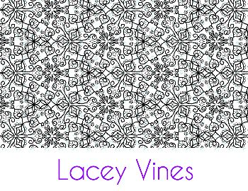 Lacey Vines Silk Screen Stencil