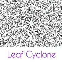 Leaf Cyclone Silk Screen Stencil