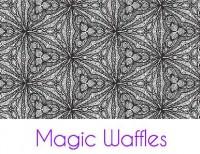 Magic Waffles Silk Screen Stencil