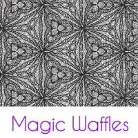 Magic Waffles Silk Screen Stencil
