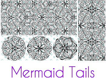 Mermaid Tails Silk Screen Stencil