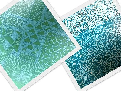 TEXTURE STAMPS and SILK SCREEN STENCILS