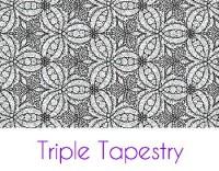 Triple Tapestry Silk Screen Stencil