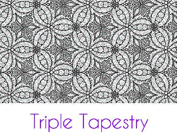 Triple Tapestry Silk Screen Stencil
