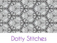 Dotty Stitches Silk Screen Stencil