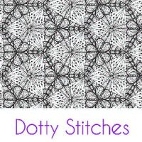 Dotty Stitches Silk Screen Stencil