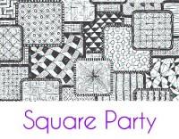 Square Party Silk Screen Stencil