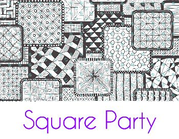 Square Party Silk Screen Stencil