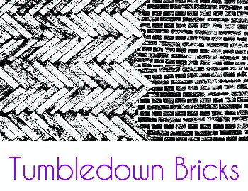Tumbledown Bricks Silk Screen Stencil
