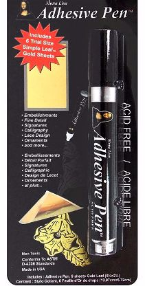 Mona Lisa Gold Leaf with Adhesive Pen