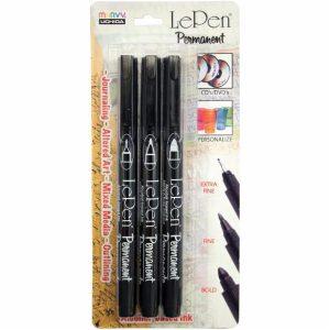 LePen Markers Black 3 pack