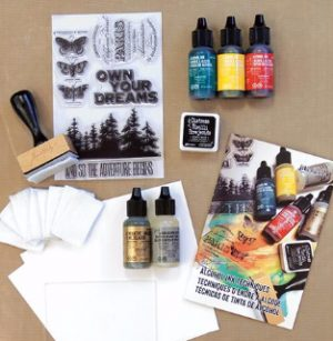 Tim Holtz Alcohol Ink Kit contents