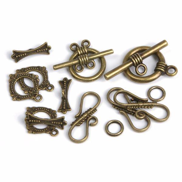Antique Gold Clasps 8 Sets