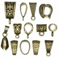 Antique Gold Bails 13 pcs
