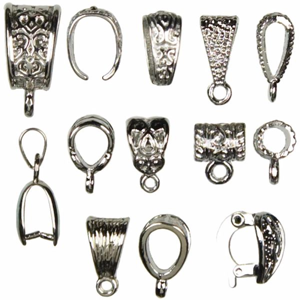 Silver Bails-Assorted 13 pcs