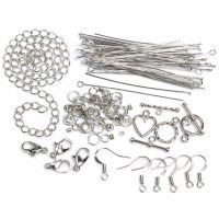 Jewelry Basics Starter Pack Silver Tone 134 pcs