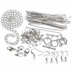 Jewelry Basics Starter Pack Silver Tone 134 pcs