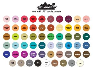 Adirondack Alcohol Ink Chart