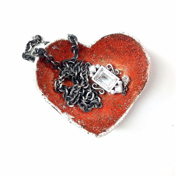 """Love-ly"" Little Dishes a free tutorial using polymer clay and iced enamels"
