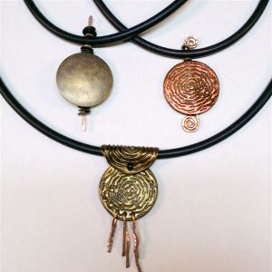 Lyn Tremblay's Assortment of Pendants made using the 8mm Buna Cord