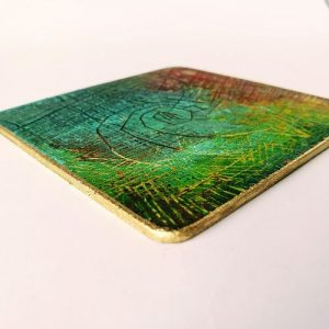 Gilded edge Coasters using Krylon Markers