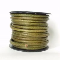 """4mm Leather in Olive Green 35"""""""