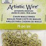 Brass Chain Maille Jump Rings