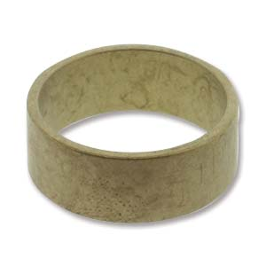 Brass Ring-Flat-size 9 (Pack of 6